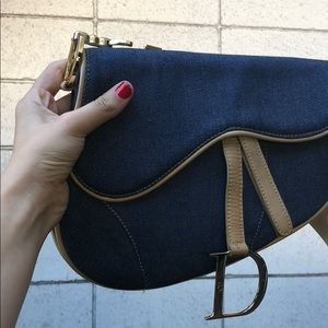 Auth. Christian Dior special edition saddle bag